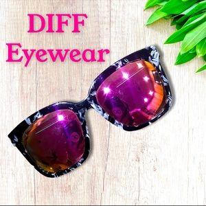 "DIFF Eyewear•Bella"" Polarized• Marble Frame"